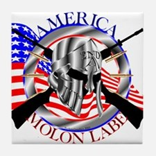 Molon Labe America 2nd Amendment Tile Coaster