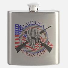 Molon Labe America 2nd Amendment Flask