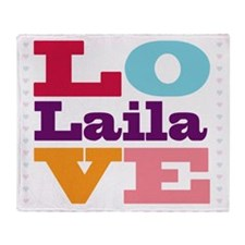 I Love Laila Throw Blanket