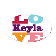 I Love Keyla Oval Car Magnet