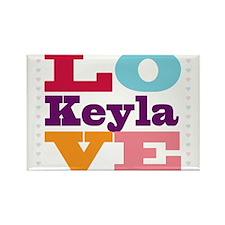 I Love Keyla Rectangle Magnet