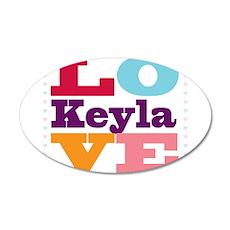 I Love Keyla Wall Decal