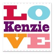 "I Love Kenzie Square Car Magnet 3"" x 3"""