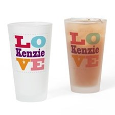 I Love Kenzie Drinking Glass