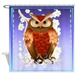 SHOWER CRTAIN Bright Brown Owl-White Blooms.png Sh