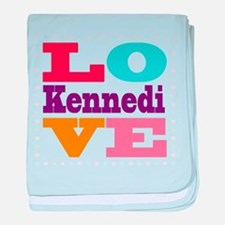 I Love Kennedi baby blanket