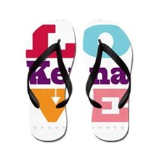 I Love Kenna Flip Flops