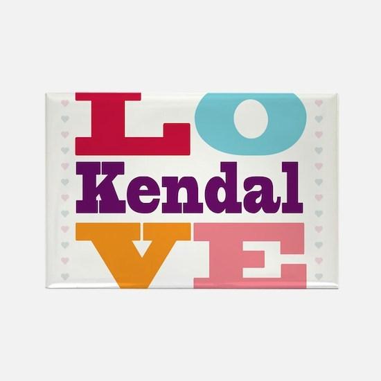 I Love Kendal Rectangle Magnet
