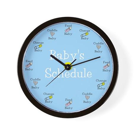 Baby's Schedule Wall Clock