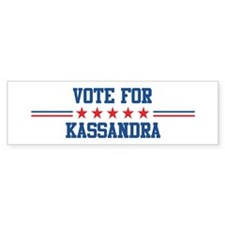 Vote for KASSANDRA Bumper Car Car Sticker