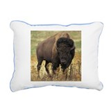 Bison Rectangle Canvas Pillows