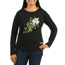 SHAMROCK-SWIRL_white Long Sleeve T-Shirt
