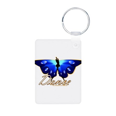 Butterfly Dance Aluminum Photo Keychain