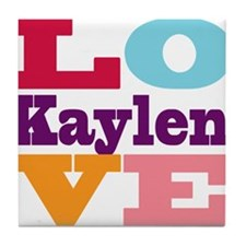I Love Kaylen Tile Coaster