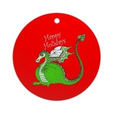 Holiday Dragon Ornament