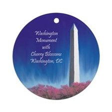 Washington Ornament with Cherry Blossoms Ornament