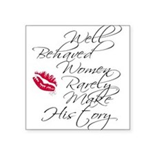 Well Behaved Women Oval Sticker