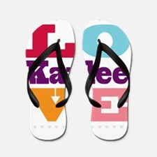I Love Kaylee Flip Flops