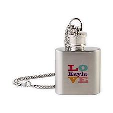 I Love Kayla Flask Necklace