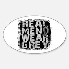 Real Men Parkinson's Sticker (Oval)