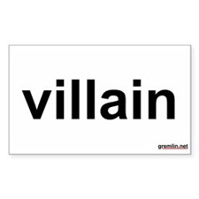 villain Rectangle Decal