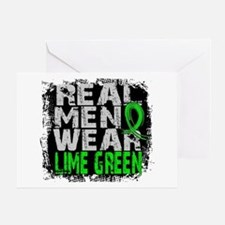 Real Men NH Lymphoma Greeting Card