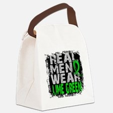 Real Men NH Lymphoma Canvas Lunch Bag