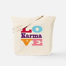 I Love Karma Tote Bag
