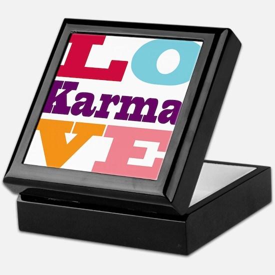 I Love Karma Keepsake Box