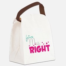Future Mrs. Right (Grey) Canvas Lunch Bag