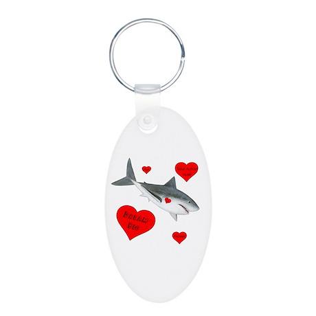 Dream Big Shark Aluminum Oval Keychain