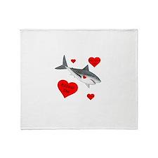 Dream Big Shark Throw Blanket