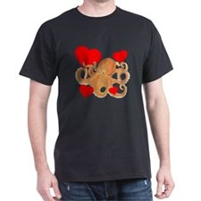 Valentine Octopus Dark T-Shirt