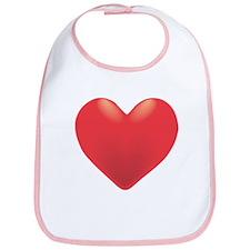 Single Red Heart Bib