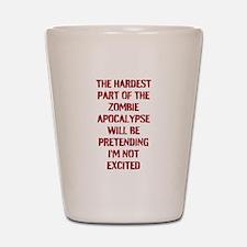 Funny Zombie Apocalypse Shot Glass