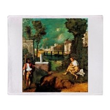 Giorgione The Tempest Throw Blanket
