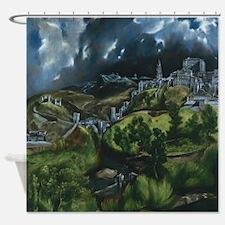 El Greco View of Toledo Shower Curtain