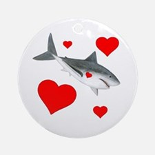 Shark Valentine Ornament (Round)