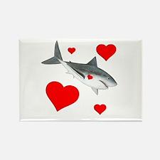Shark Valentine Rectangle Magnet