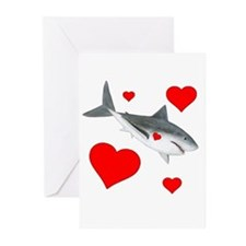 Shark Valentine Greeting Cards (Pk of 10)