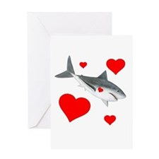 Shark Valentine Greeting Card