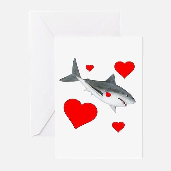 Shark Valentine Greeting Cards (Pk of 20)