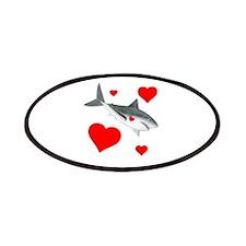 Shark Valentine Patches