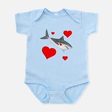 Shark Valentine Infant Bodysuit