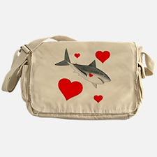 Shark Valentine Messenger Bag