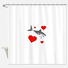 Shark Valentine Shower Curtain