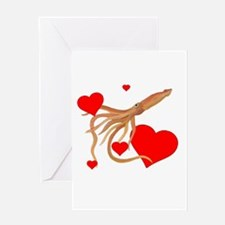 Valentine Squid Greeting Card