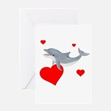 Valentine Dolphin Greeting Card
