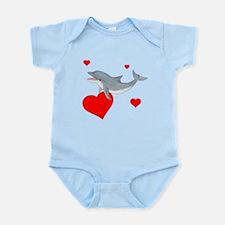 Valentine Dolphin Infant Bodysuit