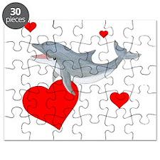 Valentine Dolphin Puzzle